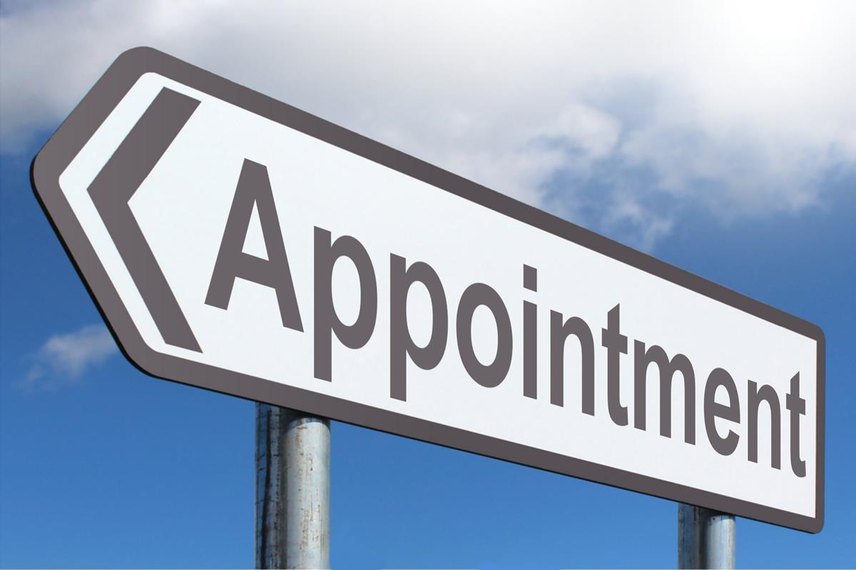 appointment - highway sign